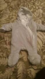 Newborn snowsuit excellent condition