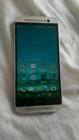 htc one m8 unlocked screen and back housing looks new silver original