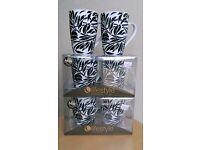 6 Porcelain Mugs £6