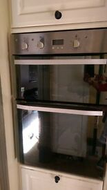 Integrated Hotpoint double oven