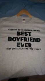 Funny T-shirt for a man Brand New Grey(never worned) and another 5 t-shirts worned already