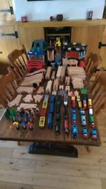 Very large train set and track