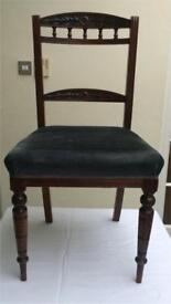 Set of 4 Victorian Mahogany Dining Chairs