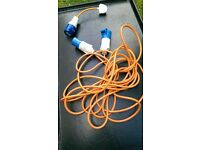 Motorhome / Campervan / Caravan Mains Hook Up Cable Lead with Cable Converter