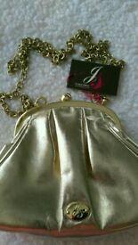 Gold Jane Shilton bag NEW, small