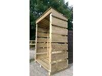 High quality pressure treated log stores