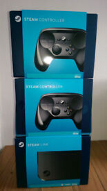 Steam Controllers X2 plus Steam Link - All Brand New in boxs ( unwanted present )
