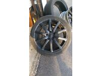 "18"" Black Alloy Wheels & Part Worn Tyres"