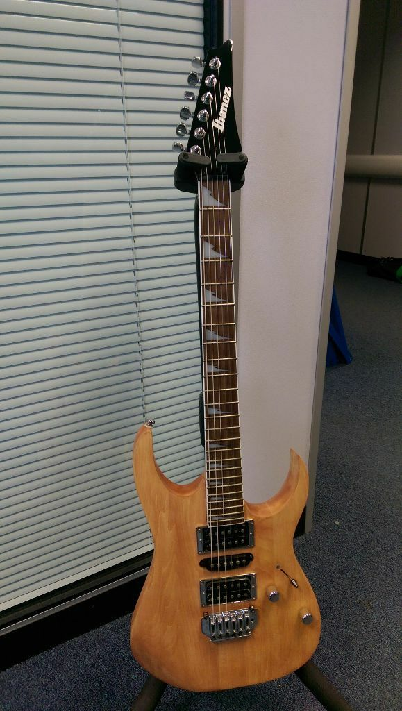 Ibanez Guitar Natural Wood Finish