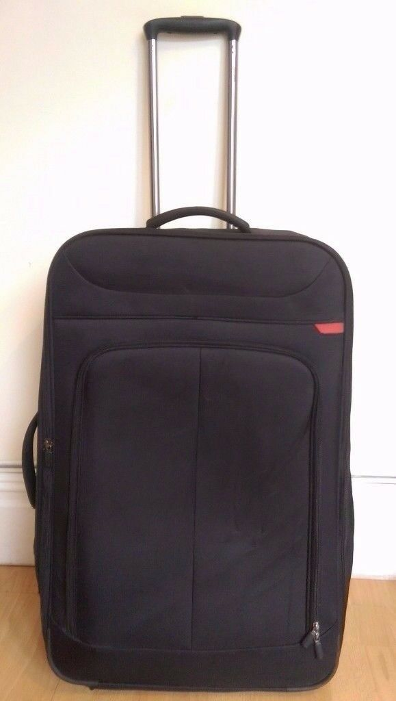 John Lewis - Z-Lite 2-Wheel Large Suitcase - Black - RRP£105