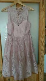 Ladies nude pink lace Lipsy dress BNWT bridesmaid/flower girl X2!
