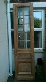 Large old stripped pine door STILL FOR SALE