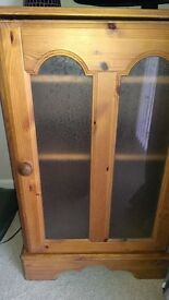 Solid Pinewood Cabinet with 2 shelves
