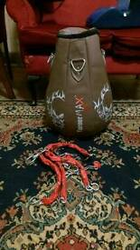 Filled maize punch bag with chains. No damage mint condition