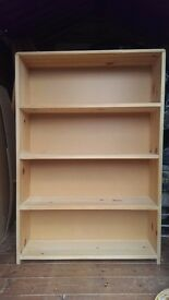 Solid pine bookcase - hand made
