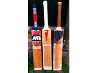 MB, BB, JA Cricket Bats for Sale - £140 EACH - Grade 1 English Willow - Please See Details