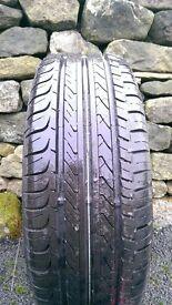 """Set of 4 genuine VW Polo 15"""" Castille Alloy wheels and tyres."""