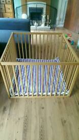 Kiddicare wooden playpen and play mat