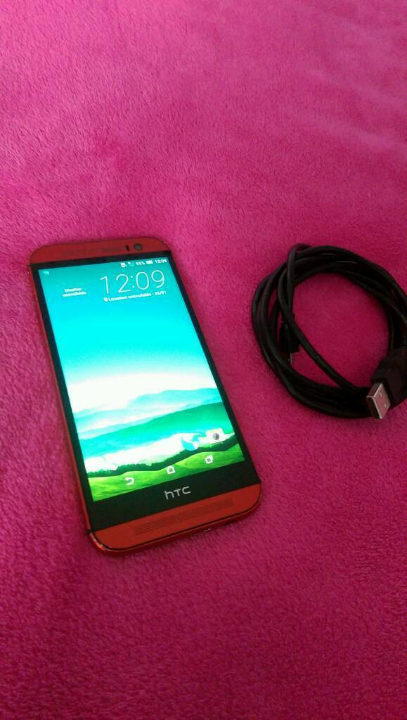 HTC One M8 16GBin Earls Court, LondonGumtree - HTC one M8 in red16gb Locked on O2 but can be unlocked for £1 online. General wear and tear, mainly on he edges. Works perfectly with no issues. Comes with charger £90. Cash on collection from W14