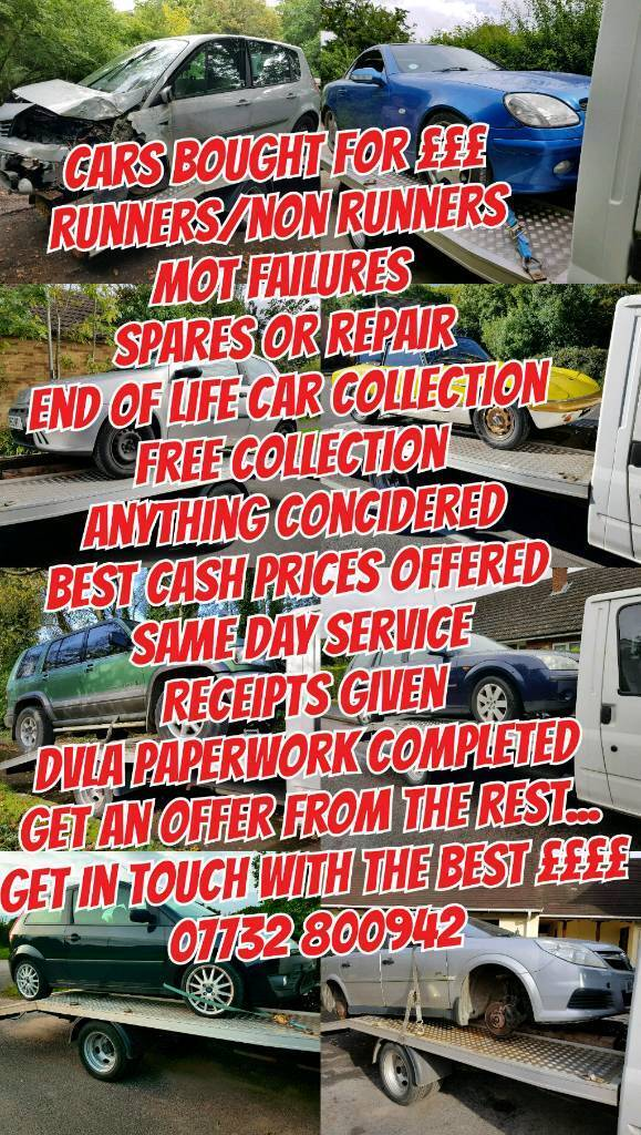 Scrap Car Removal Cars Wanted For ££ Best Prices For Non Runners ...