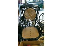 Large Painted Wicker Charis