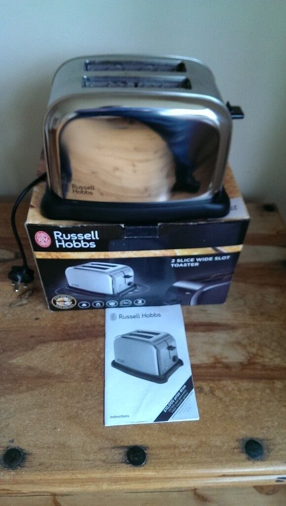 Russel Hobbs 2 Slice Toaster in Box with Manual