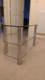 Glass TV Stand For Sale in Norwich