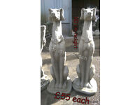 Stone garden ornaments dogs