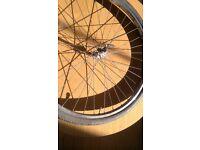700c front wheel + inner tube + tyre + QR