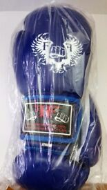Furiousfistsuk Boxing Training Wings Gloves 14oz (Blue Color)