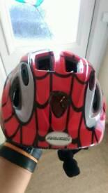 Kids Spiderman bike helmet