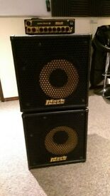 Markbass bass LMII amp & two Club121 cabs - lightweight stack