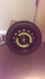 "Vw golf mk 6 new 16"" space saver wheel and tyre"