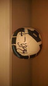 signed Nike football Rod Stewart
