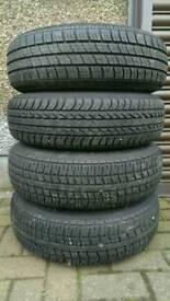 4 x 175x14 = 175x80x14 on 5 stud vw wheels