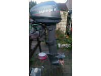 2 Stroke 6HP Mariner Long shaft outboard, 1995, with charging output