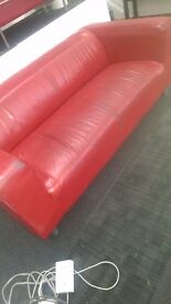 Large modern style red sofa - only £50