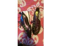mens adidas f50 football boots and matching shoe soles x2