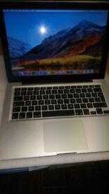 "13"" Apple Macbook Pro A1278, i7, 8Gb, 500Gb. recent new battery, High Sierra."
