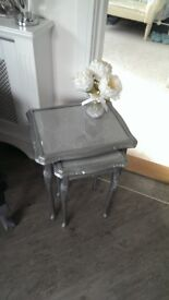 Nest of tables in silver