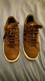 Brown Adidas Neo trainers size 7