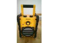 Outdoor Rugged Audiosonic Radio FM/AM Battery or 6V Mains Adapter - Price New £29.99