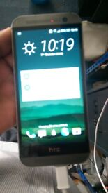 htc one m8 screen looks new back camera and earpice works with faults