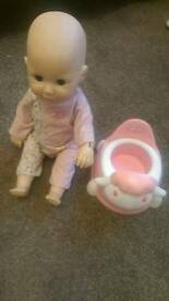 Baby Annabell and interactive potty