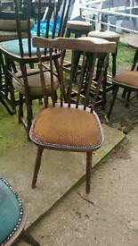 Oak table chairs and stools