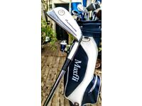 Set of John Letters Powermaster Mark 3 Golf Clubs and Bag