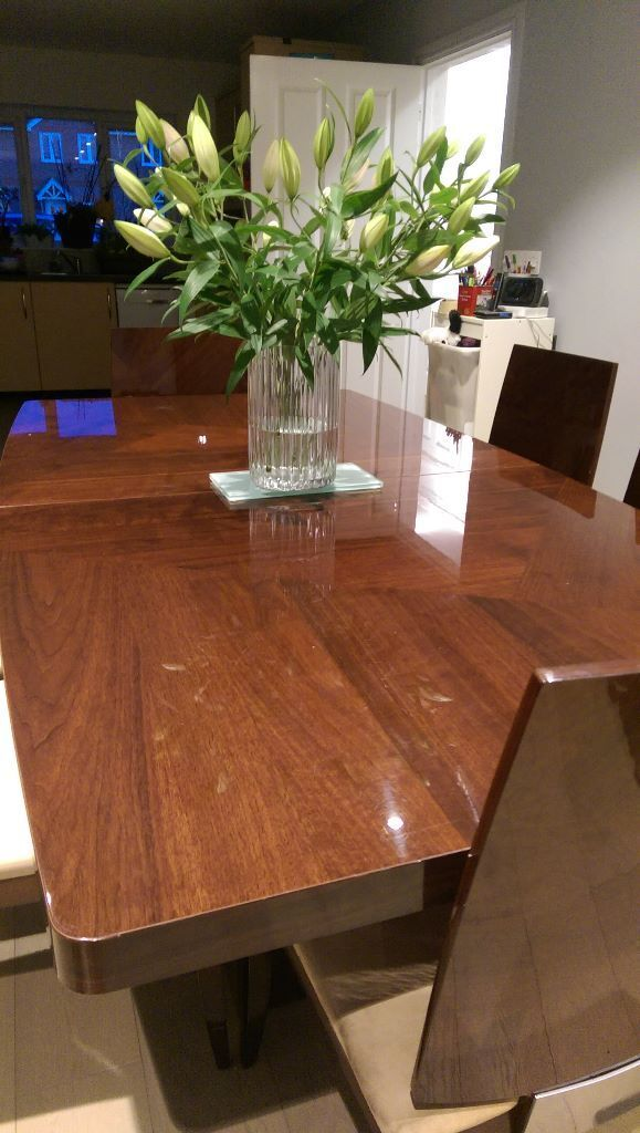 Furniture Village Rossini Walnut Veneer Extending Dining Table and