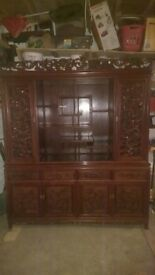 hand carved chinese drinks cabinet