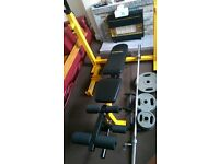 brand new olympic bench with 105 kg olympic weights