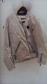 Weise Ladies silver motorbike jacket